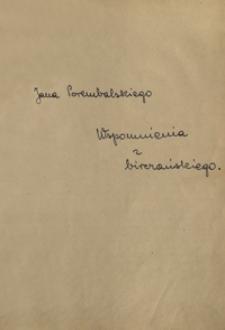 Jana Porembalskiego wspomnienia z birczańskiego