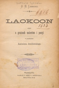 Laokoon albo O granicach malarstwa i poezyi
