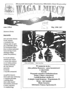 Waga i Miecz : miesięcznik Samorządu i Towarzystwa Miłośników Ziemi Strzyżowskiej. 1998, [R. 8], nr 5 (maj)