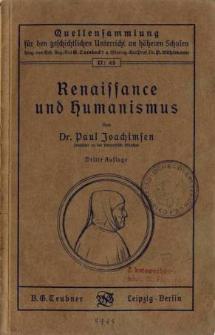 Ranaissanse und Humanismus