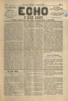 Echo z nad Sanu : organ miejscowy dla ziemi przemyskiej i sanockiej. 1885, R. 1, nr 6-9 (czerwiec)