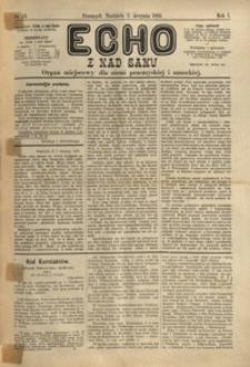Echo z nad Sanu : organ miejscowy dla ziemi przemyskiej i sanockiej. 1885, R. 1, nr 14-18 (sierpień)