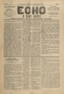 Echo z nad Sanu : organ miejscowy dla ziemi przemyskiej i sanockiej. 1885, R. 1, nr 23-26 (październik)