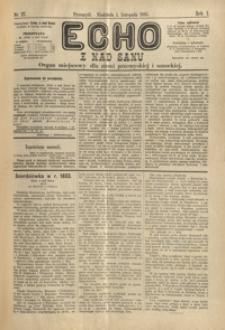 Echo z nad Sanu : organ miejscowy dla ziemi przemyskiej i sanockiej. 1885, R. 1, nr 27-31 (listopad)