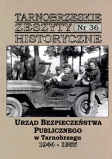 Tarnobrzeskie Zeszyty Historyczne. 2011, nr 36 (grudzień)