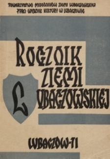 Rocznik Ziemi Lubaczowskiej. 1971, T. 2