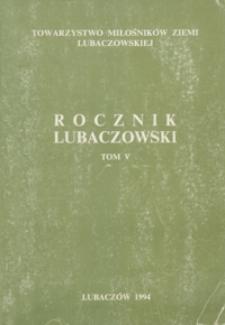Rocznik Lubaczowski. 1994, T. 5