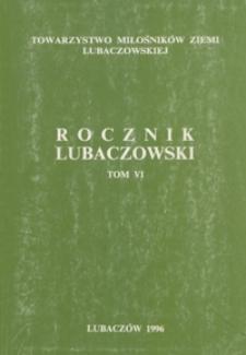 Rocznik Lubaczowski. 1996, T. 6