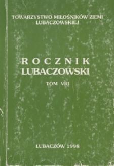 Rocznik Lubaczowski. 1998, T. 8