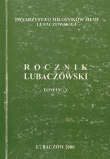 Rocznik Lubaczowski. 2000, T. 9-10