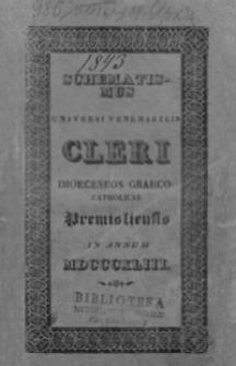 Schematismus Universi Venerabilis Cleri Dioeceseos graeco catholicae Premisliensis pro Anno Domini MDCCCXLIII