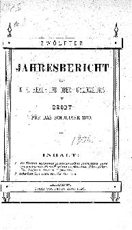 Jahresbericht des K. K. Real und Ober-Gymnasiums in Brody fur das schuljahr 1890