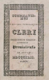 Schematismus Universi Venerabilis Cleri Dioeceseos graeco-catholicae Premisliensis pro Anno Domini MDCCCXLII