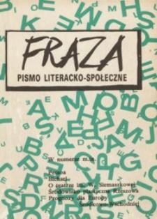 Fraza : pismo literacko-społeczne. 1992, R. 2, nr 2
