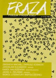 Fraza : poezja, proza, esej. 1996, R. 6, nr 11-12