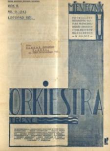 Orkiestra : miesięcznik poświęcony krzewieniu kultury muzycznej wśród orkiestr i towarzystw muzycznych w Polsce. 1931, R. 2, nr 11 (listopad)