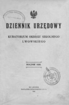Dziennik Urzędowy Kuratorjum Okręgu Szkolnego Lwowskiego. 1926, R. 30, nr 1-11