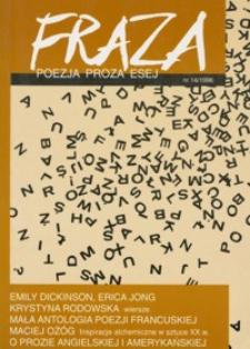Fraza : poezja, proza, esej. 1996, R. 6, nr 14