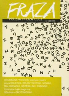 Fraza : poezja, proza, esej. 1999, R. 9, nr 23