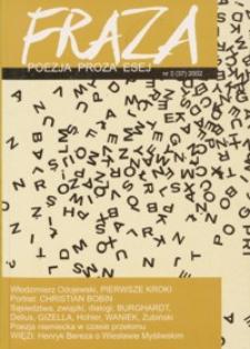 Fraza : poezja, proza, esej. 2002, R. 11, nr 37