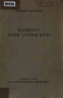 Elementy form literackich