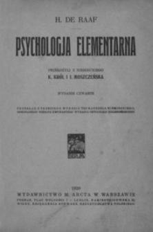 Psychologja elementarna