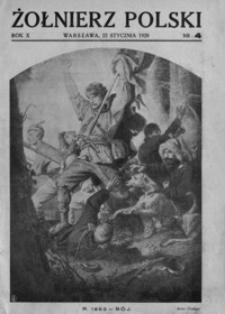 Żołnierz Polski. 1928, R. 10, nr 4 (22 stycznia)
