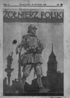 Żołnierz Polski. 1928, R. 10, nr 5 (29 stycznia)