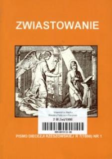 Zwiastowanie : pismo Diecezji Rzeszowskiej. 1998, R. 7, nr 1