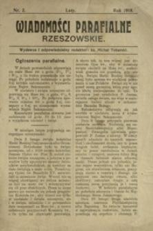 Wiadomości Parafialne Rzeszowskie. 1918, nr 2 (luty)