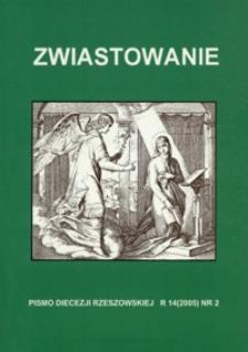 Zwiastowanie : pismo Diecezji Rzeszowskiej. 2005, R. 14, nr 2