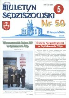 Biuletyn Sędziszowski. 2000, [R. 9], nr 5 (30 listopada)