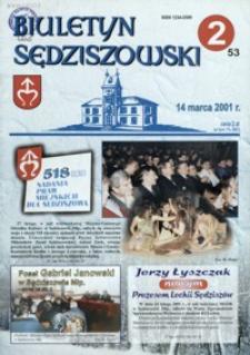 Biuletyn Sędziszowski. 2001, [R. 10], nr 2 (14 marca)