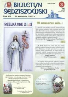 Biuletyn Sędziszowski. 2003, [R. 12], nr 3 (11 kwietnia)