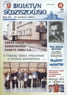 Biuletyn Sędziszowski. 2004, [R. 13], nr 4 (28 kwietnia)