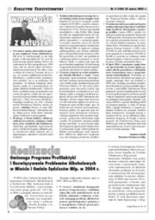 Biuletyn Sędziszowski. 2005, [R. 14], nr 3 (22 marca)