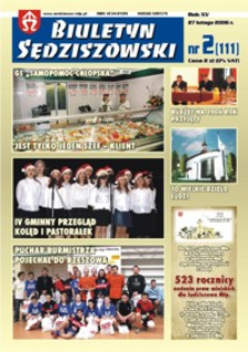 Biuletyn Sędziszowski. 2006, R. 15, nr 2 (27 lutego)