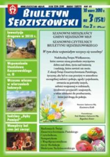 Biuletyn Sędziszowski 2010, R. 19, nr 3 (30 marca)