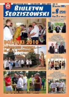 Biuletyn Sędziszowski 2010, R. 19, nr 8 (20 września)