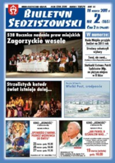 Biuletyn Sędziszowski 2011, R. 20, nr 2 (18 marca)