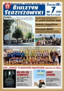 Biuletyn Sędziszowski 2011, R. 20, nr 7 (23 września)