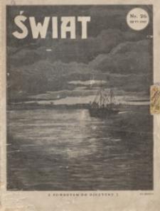 Świat. 1927, R. 22, nr 26 (czerwiec)