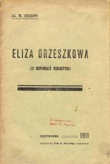 Eliza Orzeszkowa : (ze wspomnień osobistych)