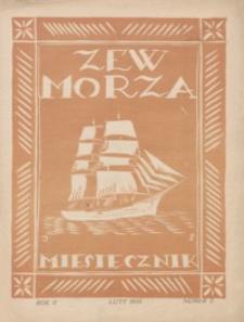 Zew Morza : organ Zarządu Obwodu Ligi Morskiej i Kolonjalnej w Przemyślu. 1935, R. 2, nr 2 (luty)