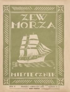 Zew Morza : organ Zarządu Obwodu Ligi Morskiej i Kolonjalnej w Przemyślu. 1935, R. 2, nr 3-4 (marzec-kwiecień)