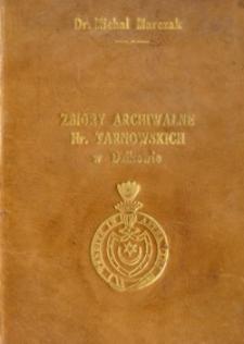 Zbiory archiwalne Hr. Tarnowskich w Dzikowie