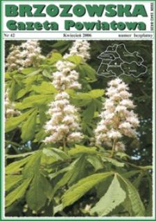Brzozowska Gazeta Powiatowa. 2006, nr 42 (kwiecień)
