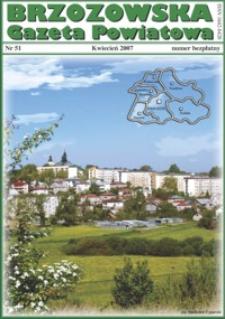 Brzozowska Gazeta Powiatowa. 2007, nr 51 (kwiecień)