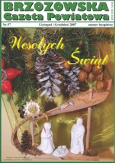 Brzozowska Gazeta Powiatowa. 2007, nr 57 (listopad/grudzień)