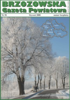 Brzozowska Gazeta Powiatowa. 2008, nr 58 (styczeń)